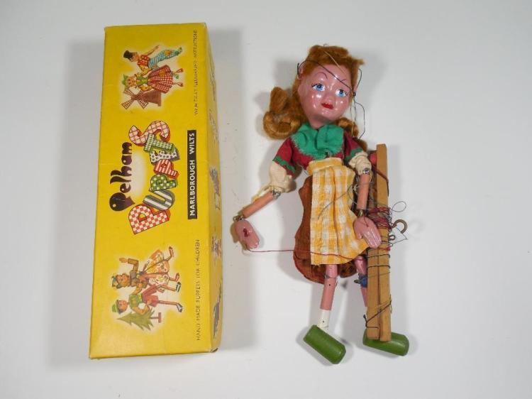 Vintage Pelham Marionette Puppet Toy w/Box