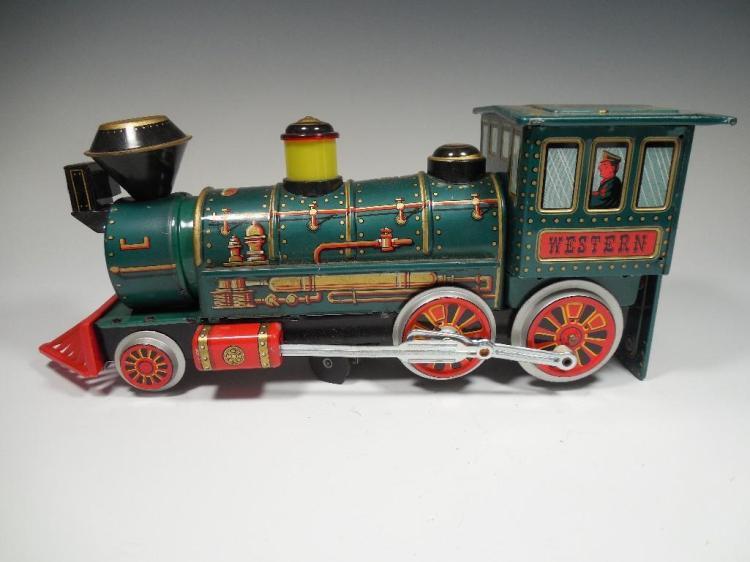 Vintage Battery Op Western Locomotive Train Toy