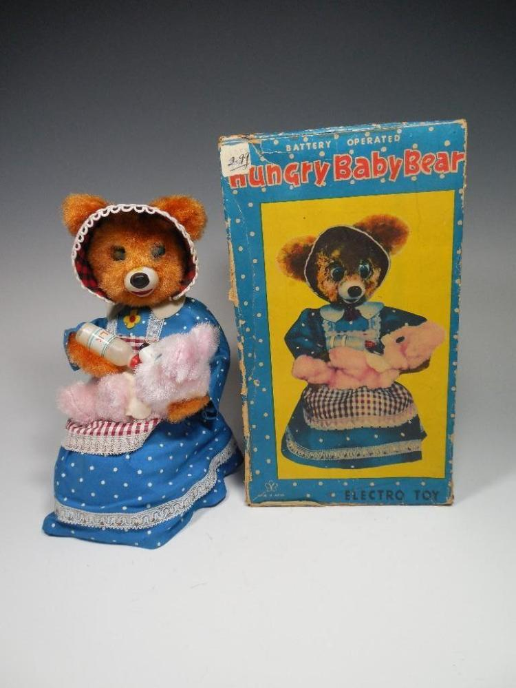 Vintage Hungry baby Bear Battery Op Toy