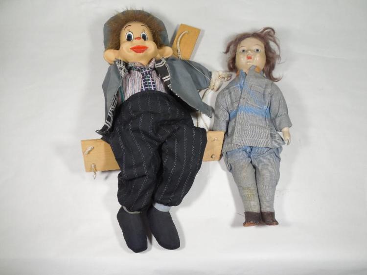 Vintage Marionette Puppet Plus Doll lot