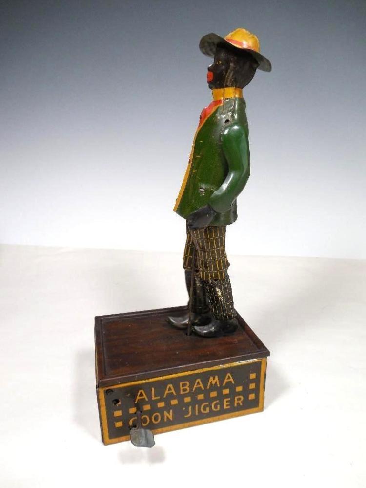 Rare Antique Alabama Coon Jigger Wind Up Toy