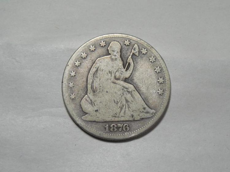 1876 US Silver Half Dollar Coin