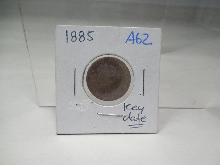 1885 Key Date US Coin V Nickel