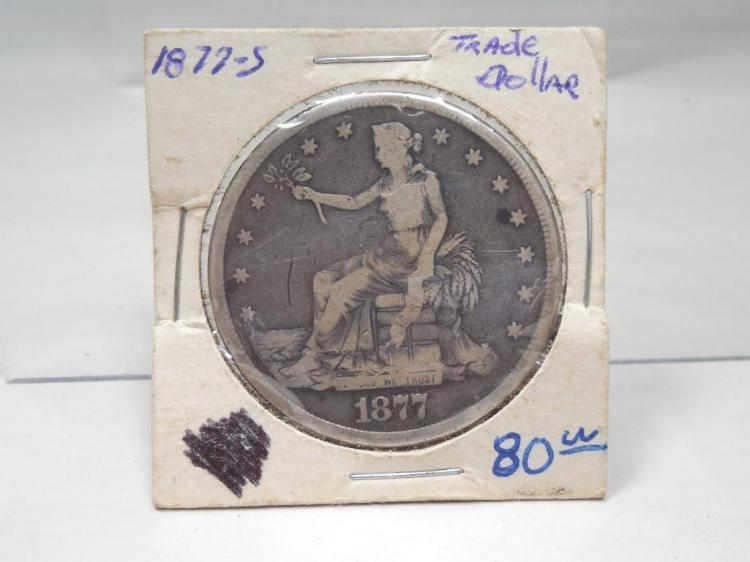 Nice 1877-S US Trade Dollar Silver Coin