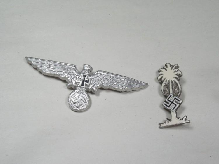 2 Nazi German Pins Inc. Palm Tree w/Swastika