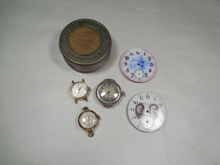 Old Watch Parts Lot Inc. Dials, Girard-Perregaux