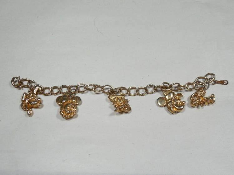 Vintage Mickey Mouse Disney Charm bracelet