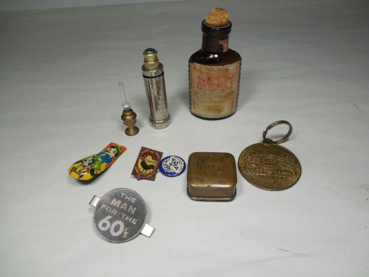 Group Lot Antique Smalls Inc. Miniature Lamp, etc