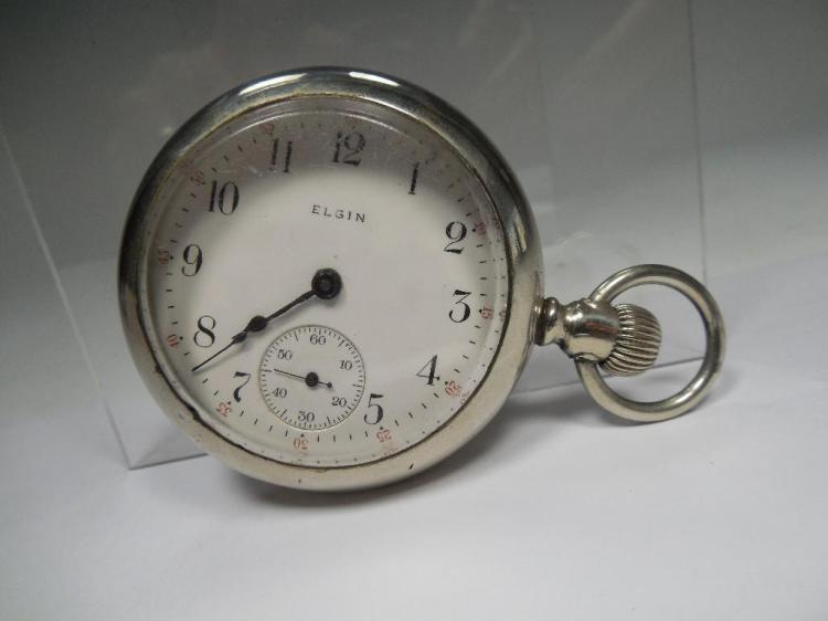Antique 18S 15J Elgin Pocket Watch - Running