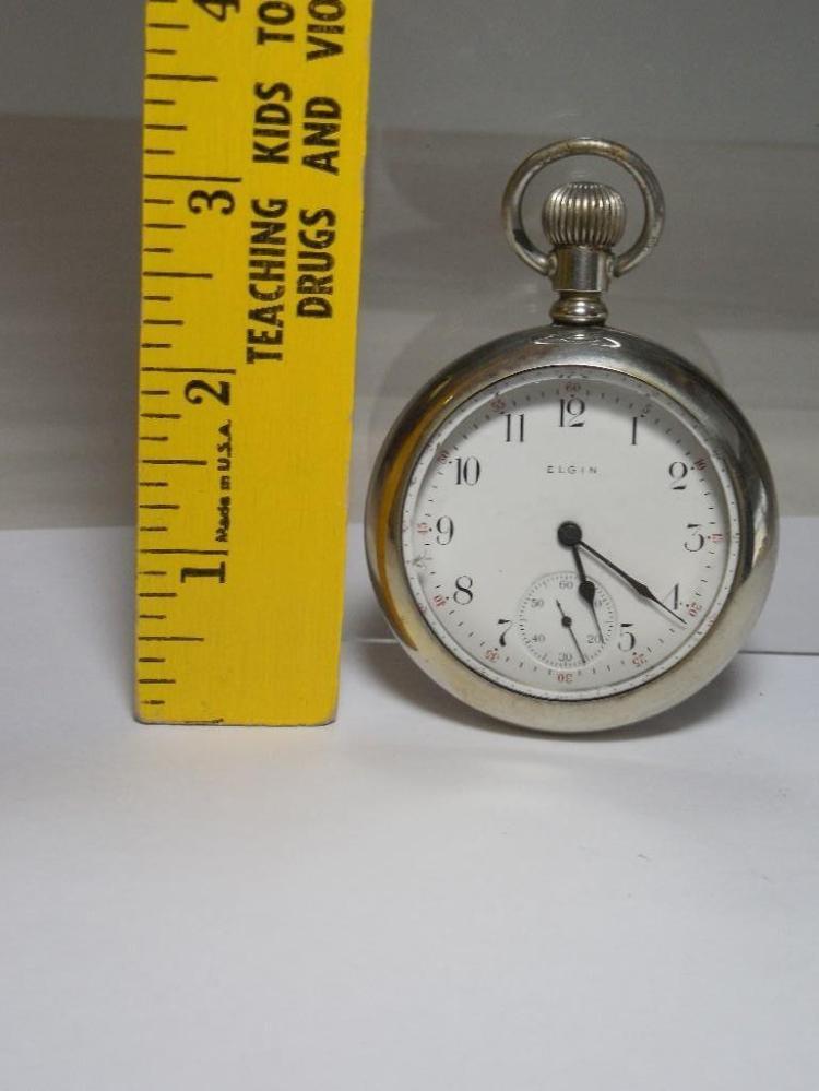 Nice 17J 18 Size Elgin Pocket Watch - Running