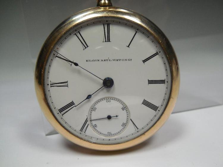 18 size 15J Elgin Pocket Watch - Runs Gold Filled