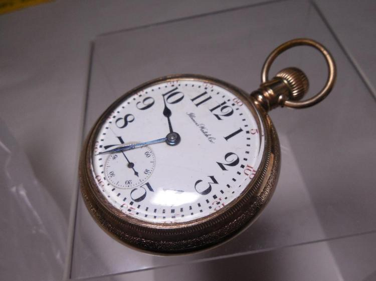 18S 17J Illinois Pocket Watch Gold Filled Case