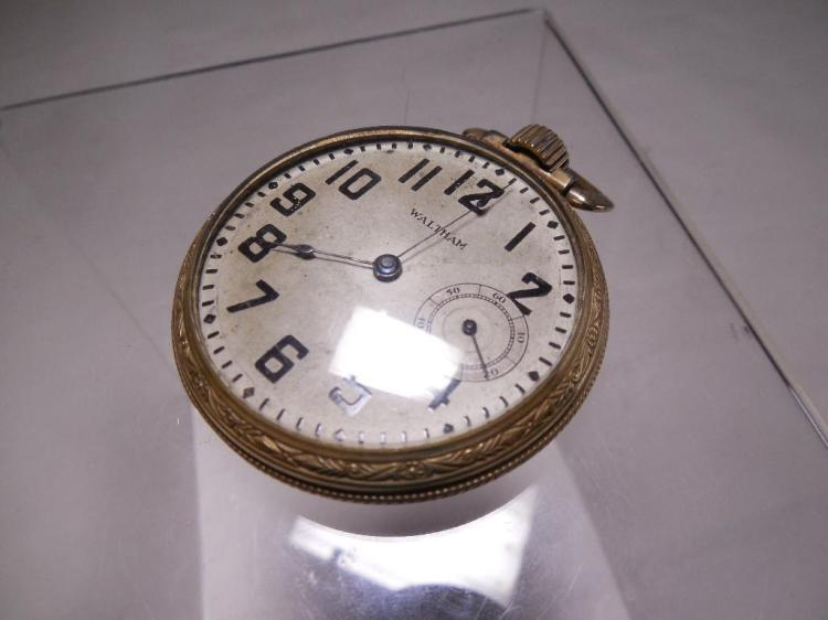 Gold Filled Waltham Pocket Watch Running