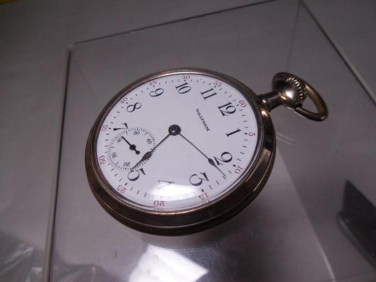 16 size 7 Jewel Waltham Pocket Watch Running Gold