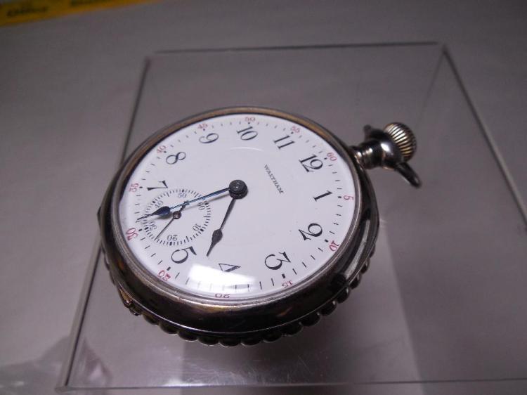 Waltham Pocket Watch in Beaded Case Runs 18S 17J