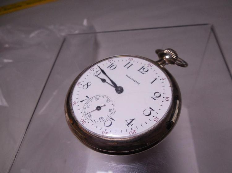 Waltham Pocket Watch Runs Fancy Case 16S 7J