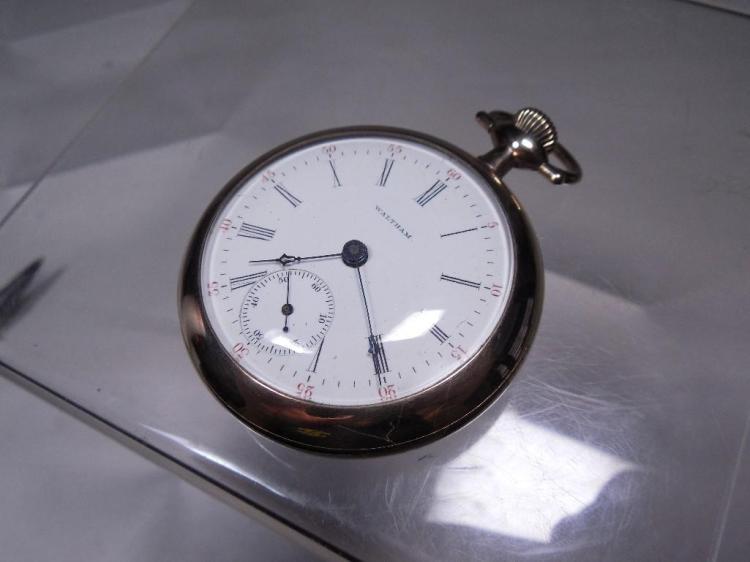 Waltham Pocket Watch Runs 18S 17J Gold Filled