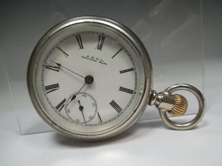 Waltham Pocket Watch Runs 18 Size 7J