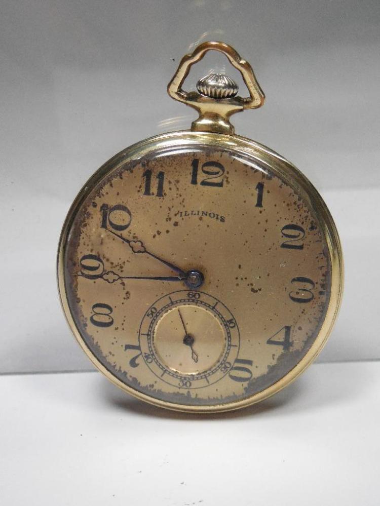 Illinois Pocket Watch Runs Gold Filled 12S 17J