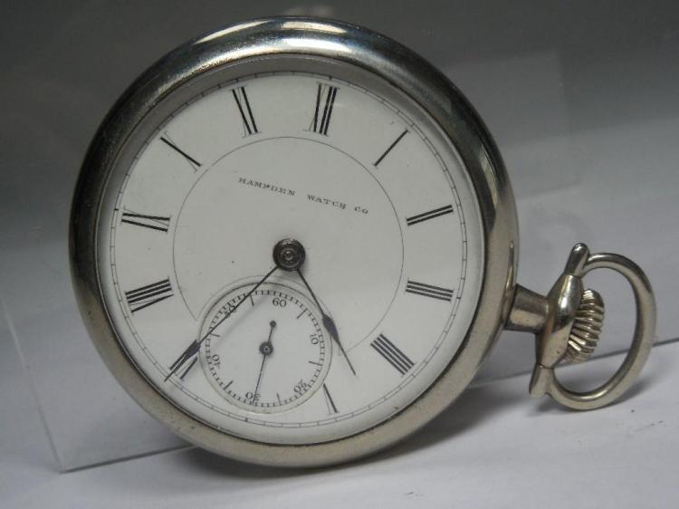 Hampden Pocket Watch 18S 15J Runs