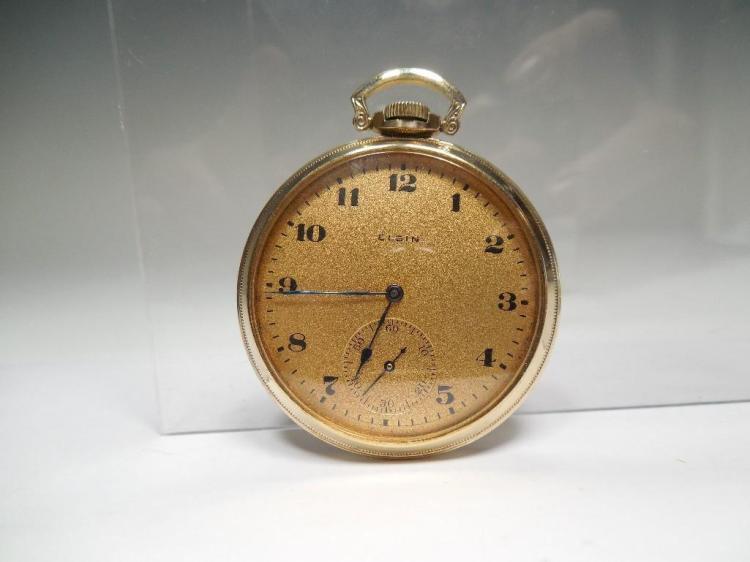 Elgin Pocket Watch Gold Filled 12S 17J Runs