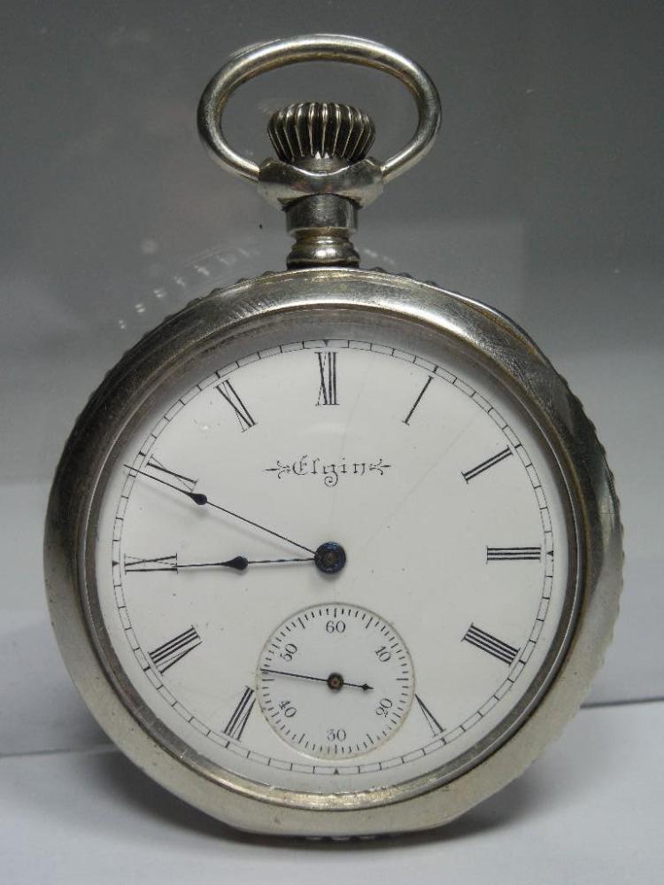 Elgin Pocket Watch 16S 15J Running