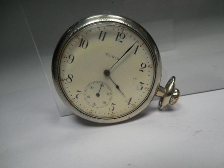 Elgin Pocket Watch 16S 7J Running Nice