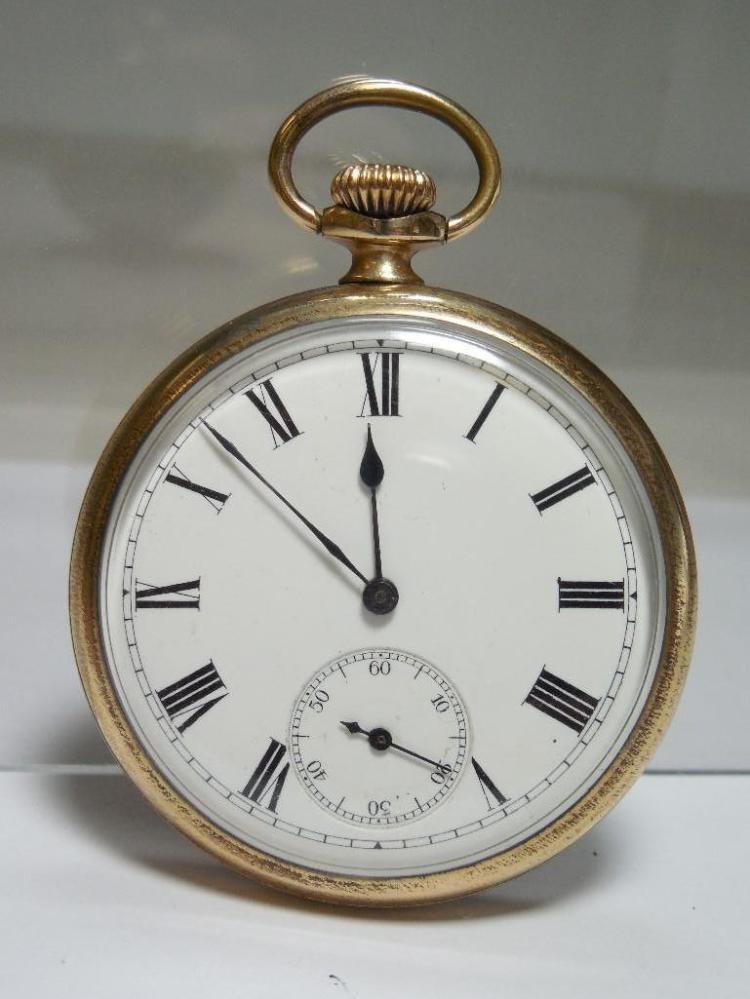 Elgin Pocket Watch Gold Filled 16S 7J Runs
