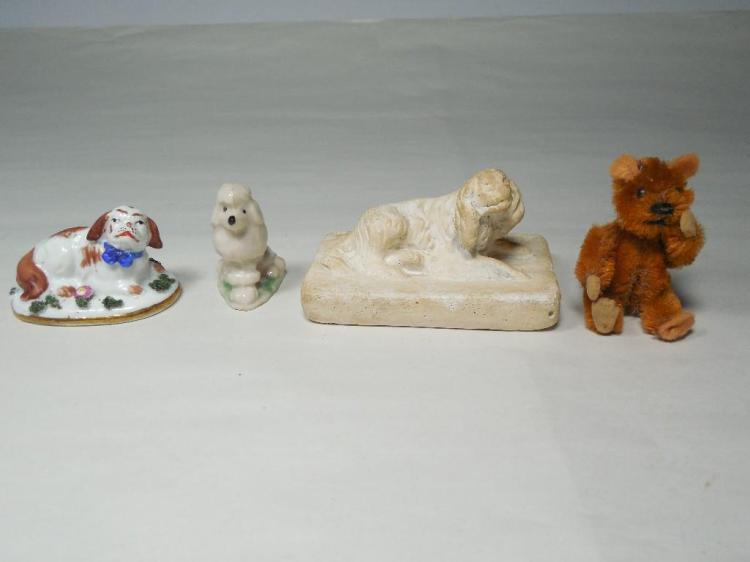 Group of Miniature Animals Inc. Staffordshire