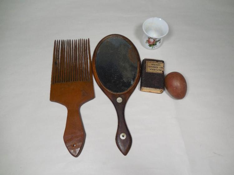 Group Lot Inc. Early Mirror, Hair Comb, Darning