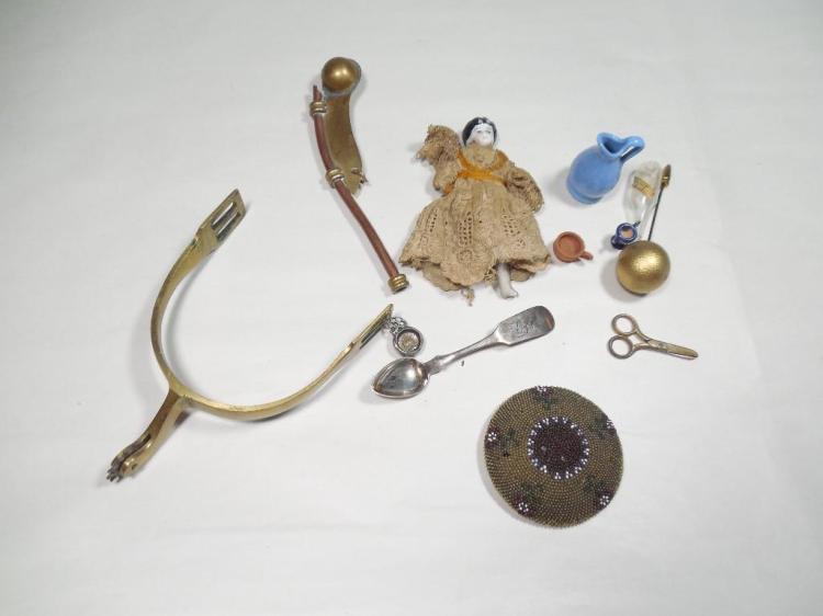 Group Lot Antique Smalls Inc. Sterling Silver, Doll