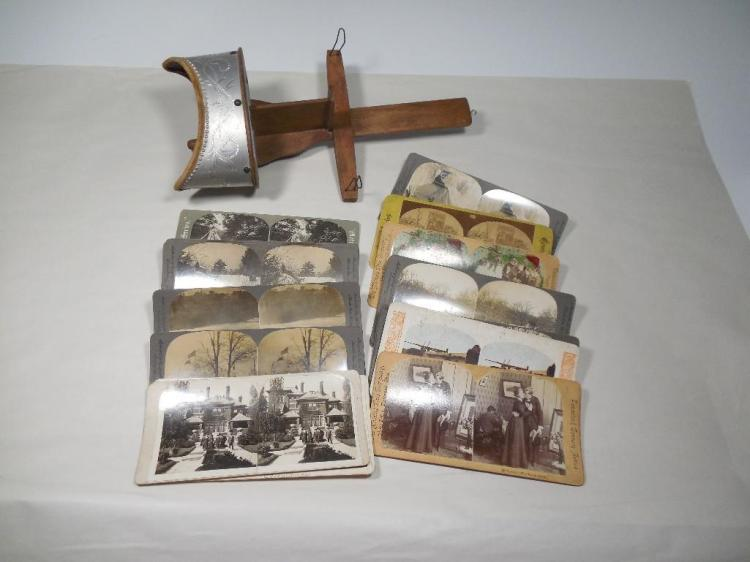 Group Lot Stereoview Card Photos w/Viewer