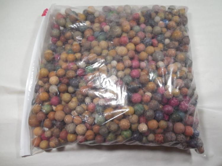 Giant Lot of Clay Bennington Marbles Many Colors