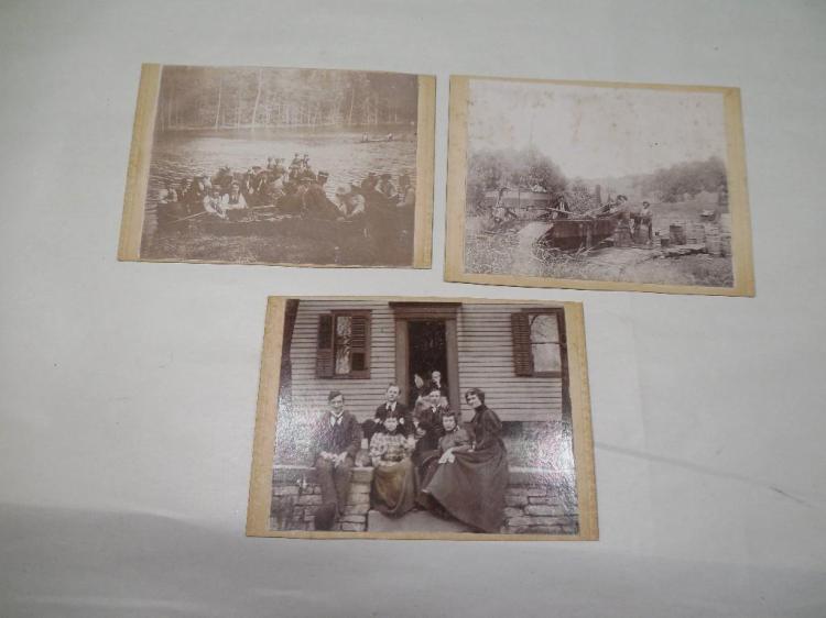 Three Early Photos Poss. Buckeye Lake Ohio etc.