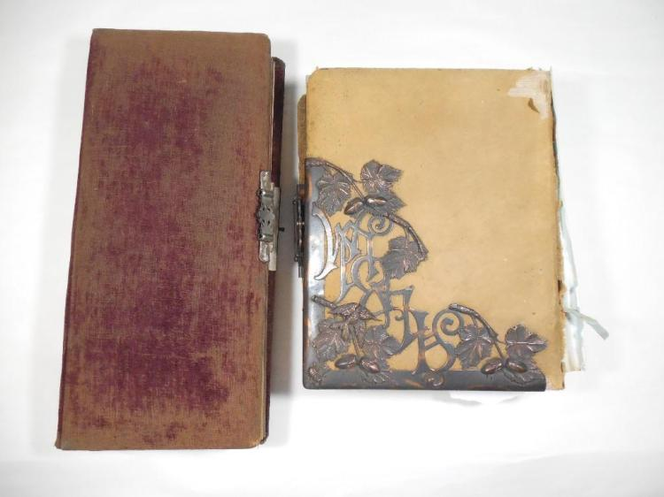 Two nice loaded early photo albums inc. dogs
