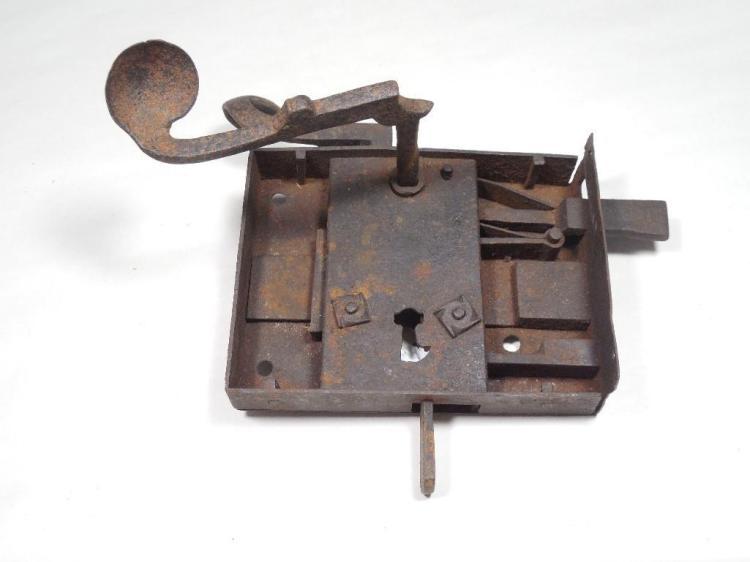 18th Century Large Heavy Duty Door Lock Hardware