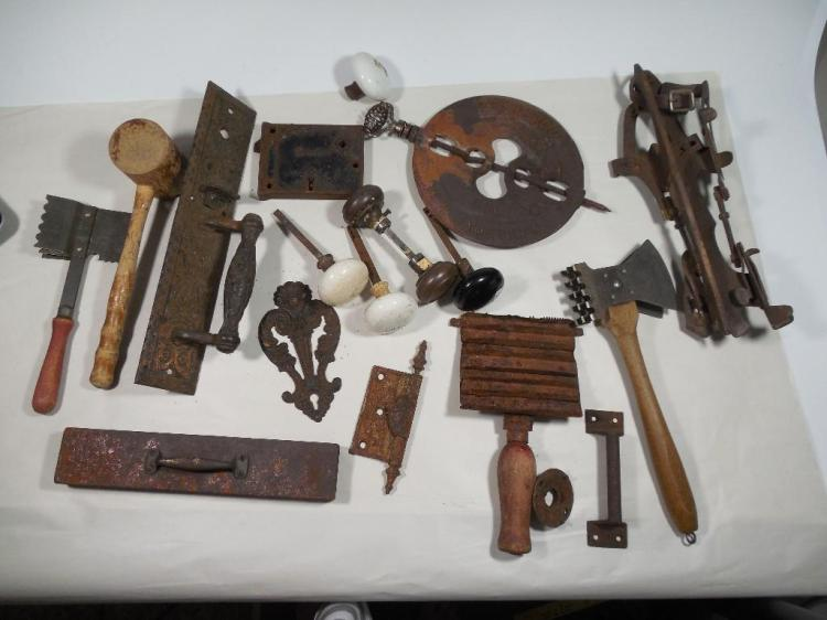 Large Group Lot of Antique Metal Ware