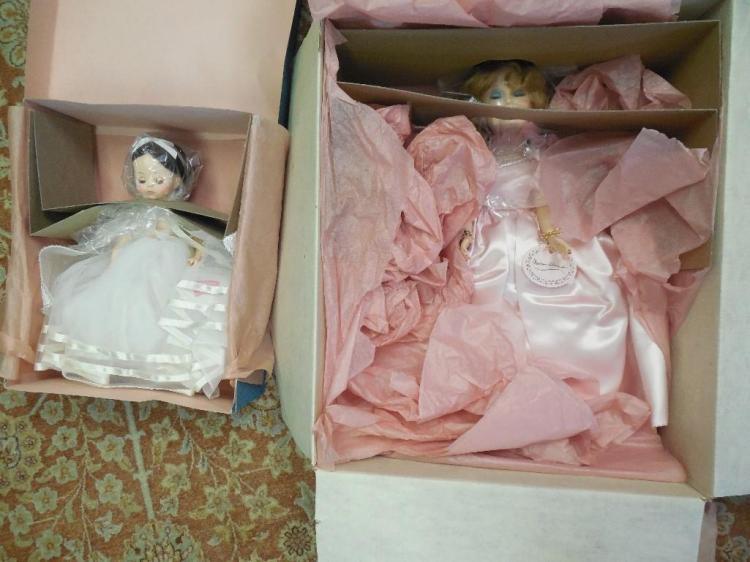 2 Vintage Older Madame Alexander Dolls