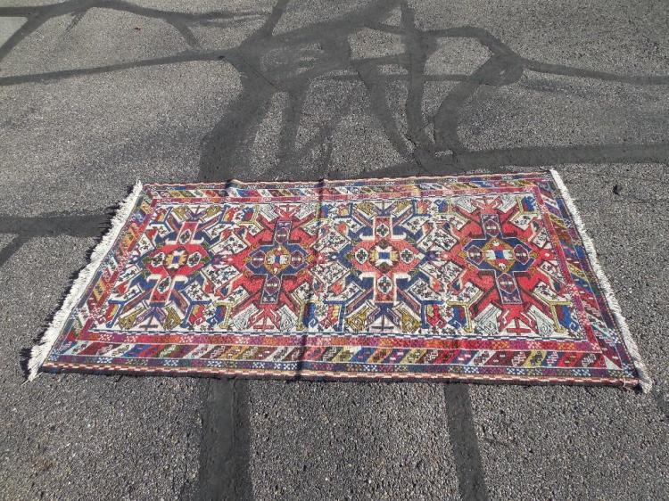 Vintage Hand Knotted Persian Carpet Wool Rug