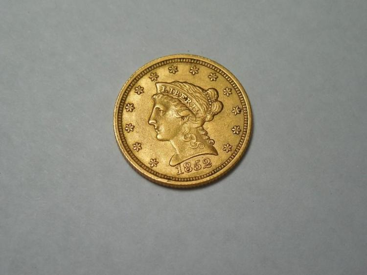 Very Nice 1852 Gold $2 1/2 Coin