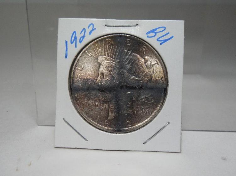 1922 Silver Peace Dollar US Coin