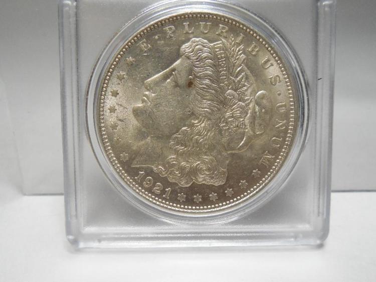 1921 US Silver Morgan Dollar Coin