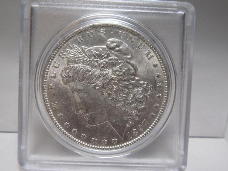 High Grade US Morgan Dollar 1897 Silver Dollar