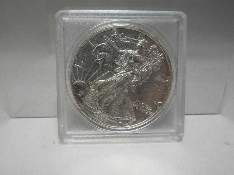 1997 US Silver Dollar Coin Walking Liberty