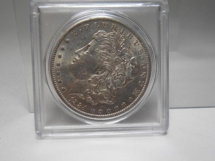 1884 Nice Grade Morgan Silver Dollar Coin
