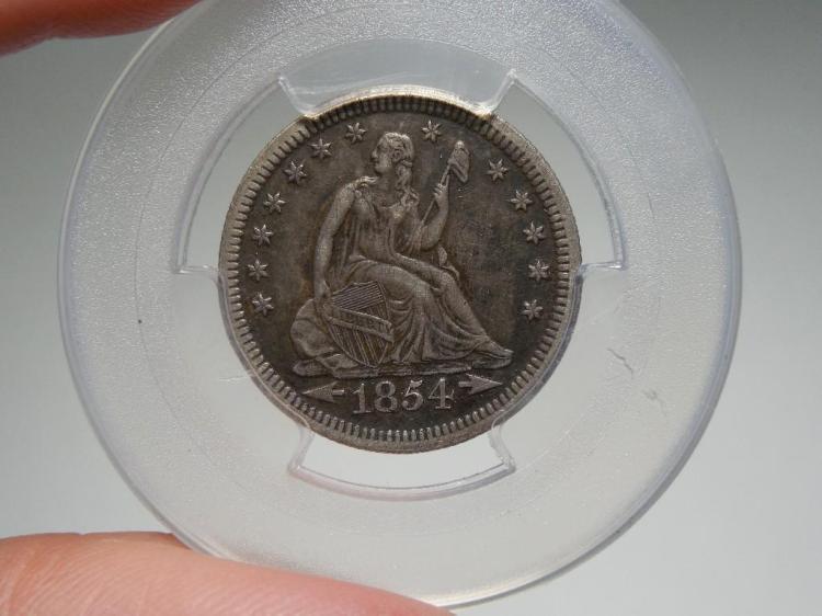 Nice 1854 Silver US Quarter Coin High Grade