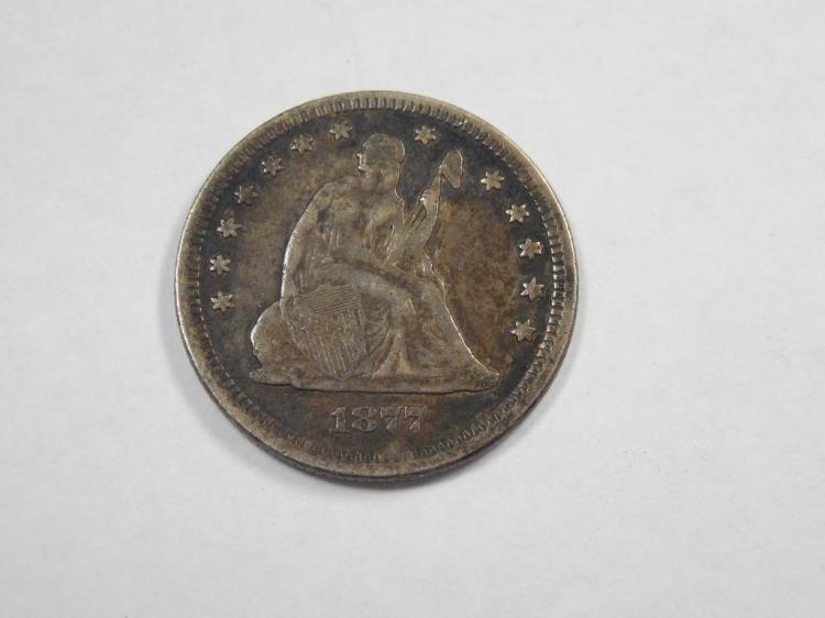 Nice 1877 Silver Quarter Coin