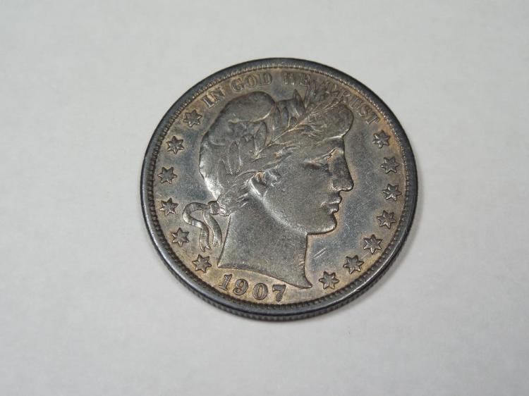 Nice 1907 US Silver Half Dollar Coin
