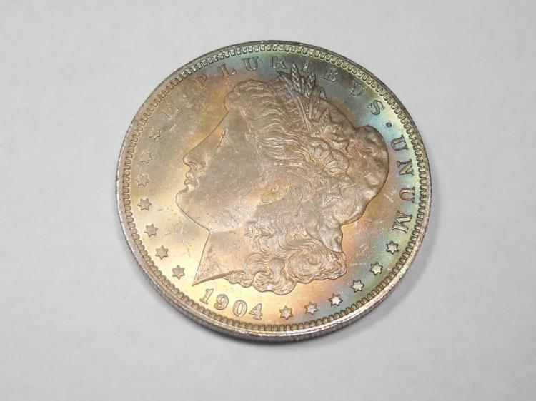 ~MS66 1904-O Morgan Dollar Silver Coin