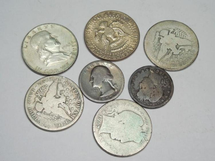Group Lot US Silver Type Coins